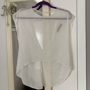 Boutique Sheer White Blouse